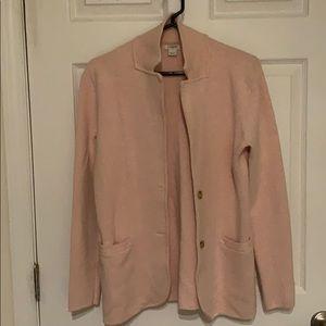 Dusty pink sweater blazer